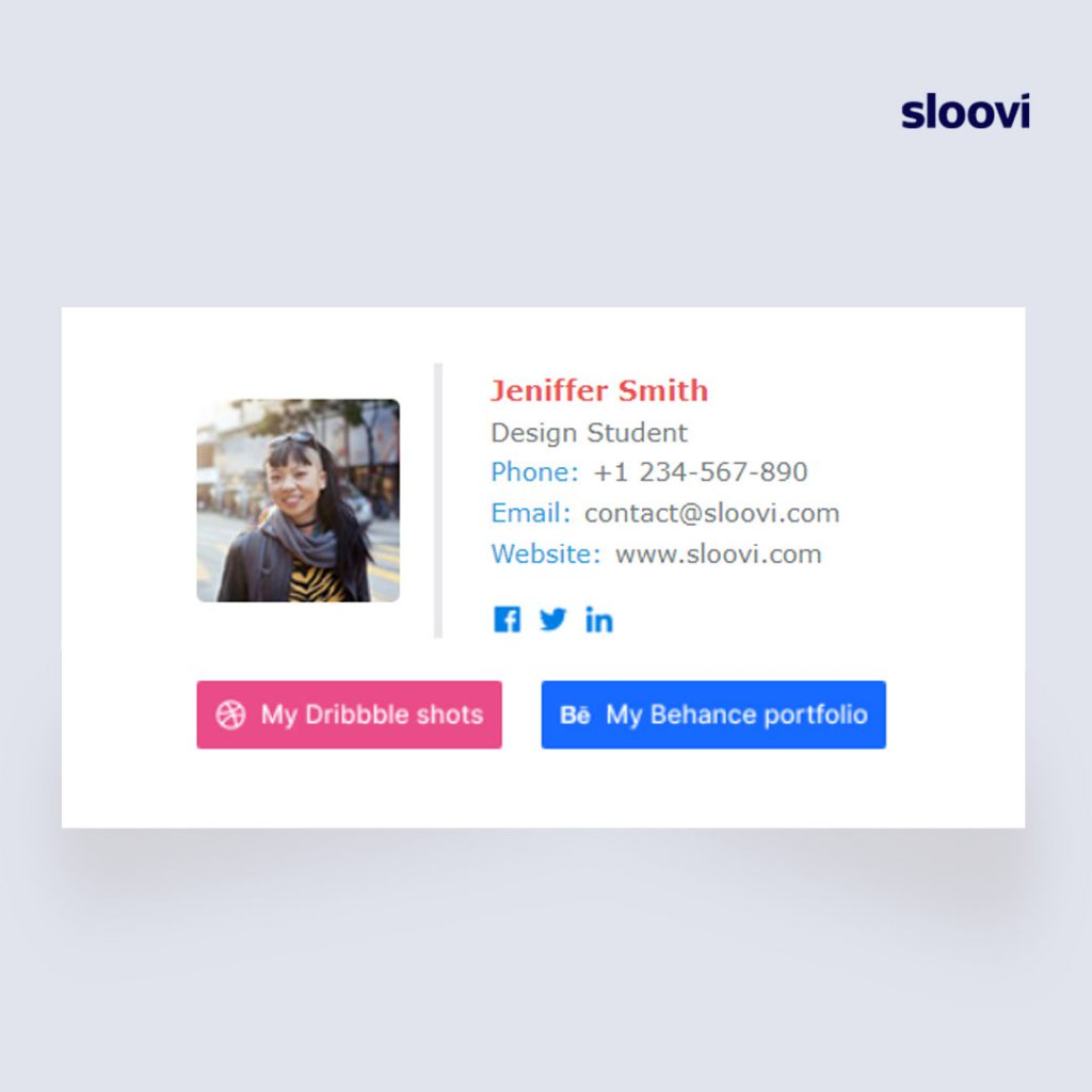 Example for Visual Email Signature